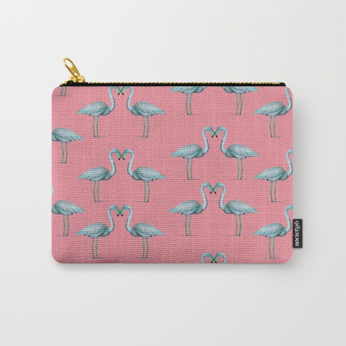 flamingo heart pattern Carry-All Pouch
