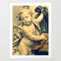 The Hallelujah Cherub. Art Print
