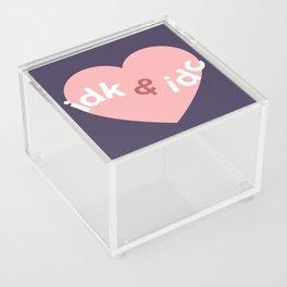 idk & idc Acrylic Box