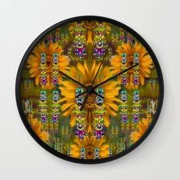 Magic Fantasy Sun Rose Fields Wall Clock