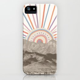 Summerlin Mountain // Abstract Vintage Mountains Summer Sun Vibe Drawing Happy Wall Hanging iPhone Case