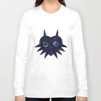 majoras mask Long Sleeve T-shirts featuring Majora's mask galaxy by Pocketmoon designs