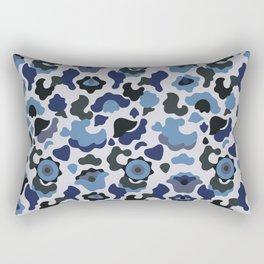 Blue khaki Rectangular Pillow