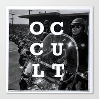 occult Canvas Prints featuring Occult by Mario Zoots
