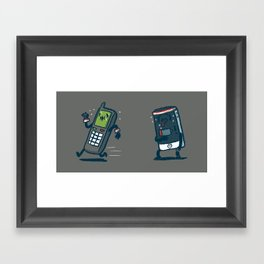 Running Out Of Battery Framed Art Print