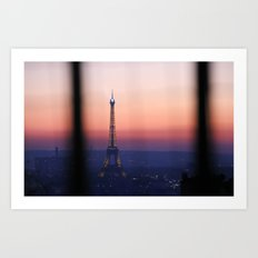 Eiffel Tour. Paris. Love. Art Print