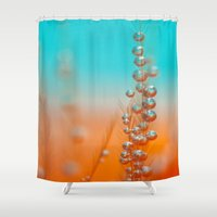 be happy Shower Curtains featuring Happy  by Marisa Johnson :: Art & Photography