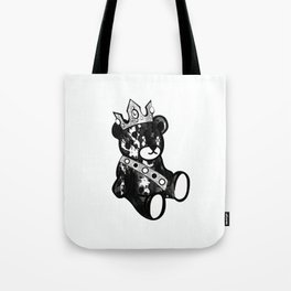 Bear King Splash Tote Bag