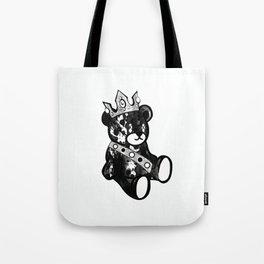 Bear King Splash Tote Bag