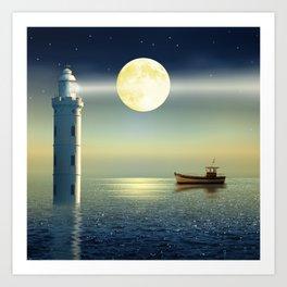 The fairy lighthouse Art Print