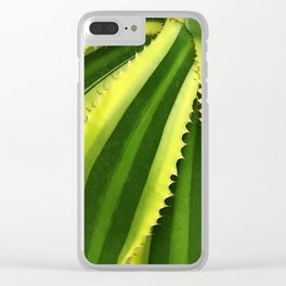 Vibrant, Lush Green Succulent Clear iPhone Case