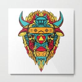 2015 BackWoods Music Festival Buffalo Day Variant Metal Print