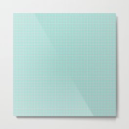 Aquamarine Gingham Metal Print