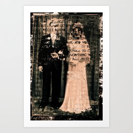 The Bride The Groom. Art Print