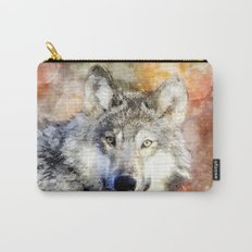 Wolf Animal Wild Nature-watercolor Illustration Carry-All Pouch