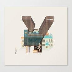 Resort type - Letter Y Canvas Print