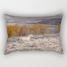 Palomino Roaming the High Plains Rectangular Pillow