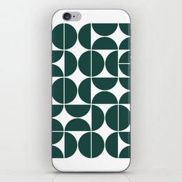 Mid Century Modern Geometric 04 Dark Green iPhone Skin