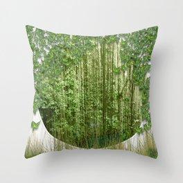Green Eden Throw Pillow