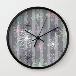 Flower Play Wall Clock
