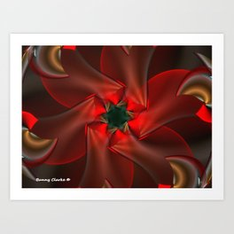 Merry Christmas With Love Art Print