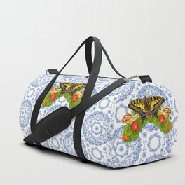 Swallowtail Butterfly and Blue Rhapsody Duffle Bag