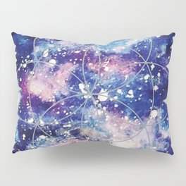 Nebula Planet with Seed of Life Pillow Sham