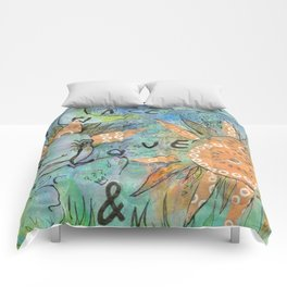 peace, love and music Comforters