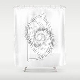 """Fly Collection"" - Abstract Minimal Letter D Print Shower Curtain"