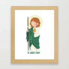 St Judas Tadeo Framed Art Print