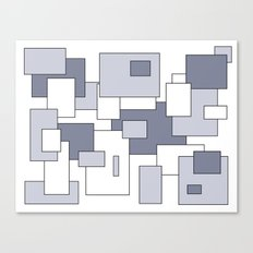 Squares - white and gray. Canvas Print