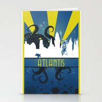 aquaman Stationery Cards featuring Atlantis by Angela S