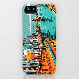 Venice with Half-tone Texture iPhone Case