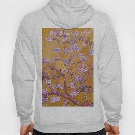 Almond Blossoms Orange Hoody