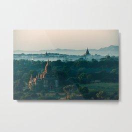 Bagan Pagodas Metal Print