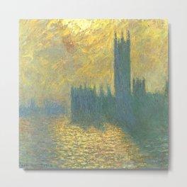Claude Monet's Parlament in London Metal Print