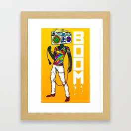 BOOM. Framed Art Print