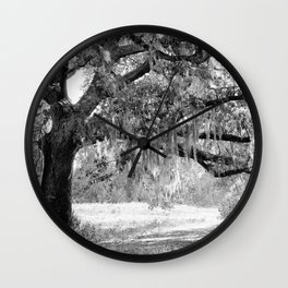 New Orleans Oak Tree Wall Clock