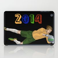 brazil iPad Cases featuring Brazil 2014 by Lost Link Art
