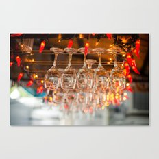 A glass or two Canvas Print