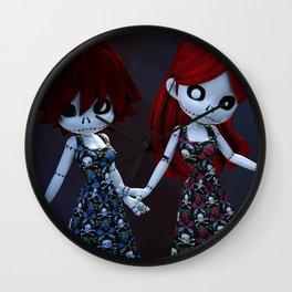 Gothic Rag Dolls Wall Clock