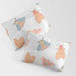 Moth Pattern - Pastels - White Pillow Sham