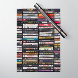 Old 80's & 90's Hip Hop Tapes Wrapping Paper