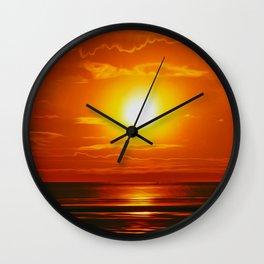 Golden Waters... Wall Clock