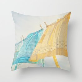 Grandma's Aprons Throw Pillow