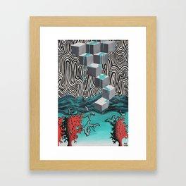 Sharks in shallow water Framed Art Print