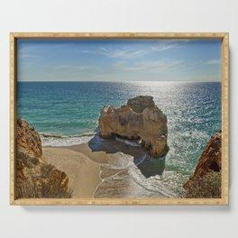 Praia da Rocha rock formation Serving Tray