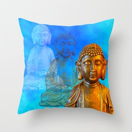 Buddha's Thoughts Throw Pillow