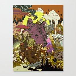 Zen Wolf Canvas Print