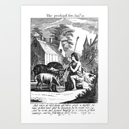 The Prodigal Son with the Pigs Art Print